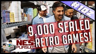 TheNesPursuit - THE LARGEST WAREHOUSE IN RETRO GAMING HISTORY - 9000 SEALED RETRO GAMES  Episode 102