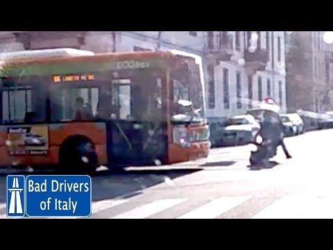 BUS DRIVER IMPRESSIVE REACTION - Autista Bus Frena Prima Dell'impatto