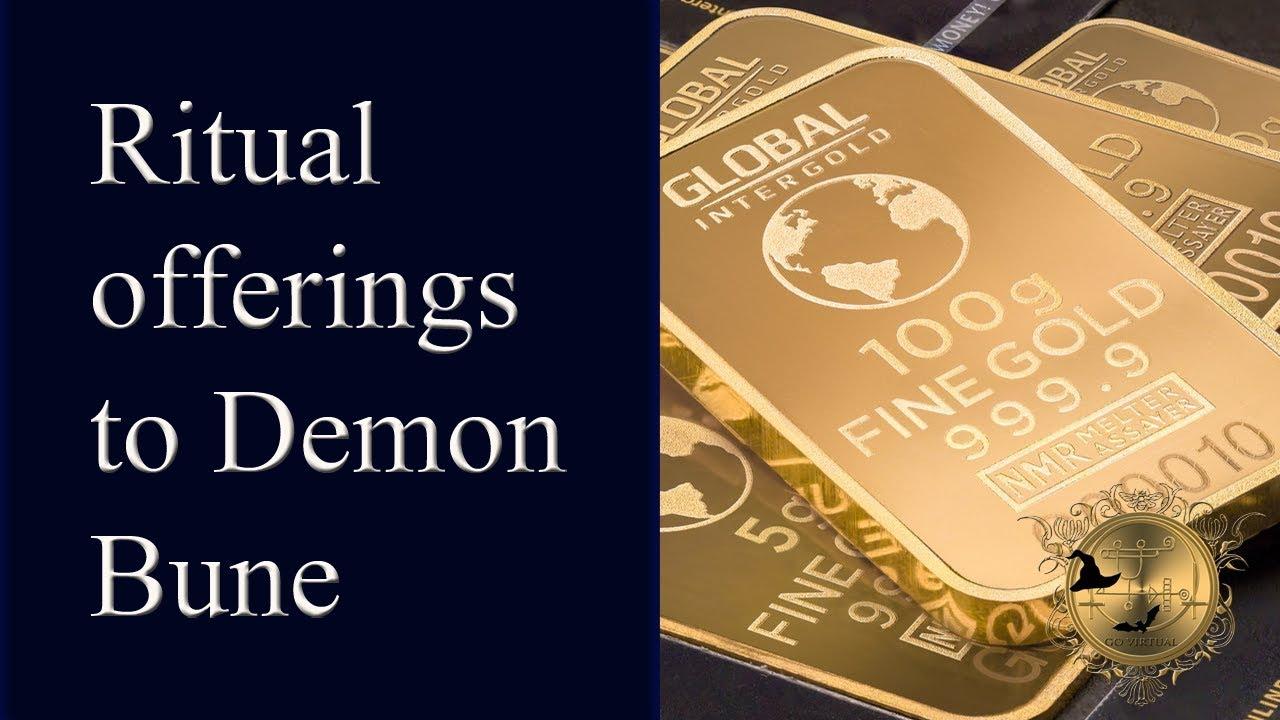Demon Bune - recommended ritual offerings  Magick of Goetia  See more money  spells below!
