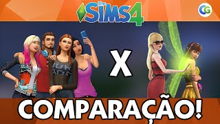 Comparação - The Sims 3 x The Sims 4