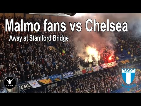 Malmo fans European Tour. 90 minutes of noise at Chelsea.