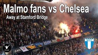 Malmo fans European Tour. 90 minutes of noise at Chelsea.