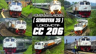 Kompilasi Semboyan 35 Klakson Lokomotif CC 206