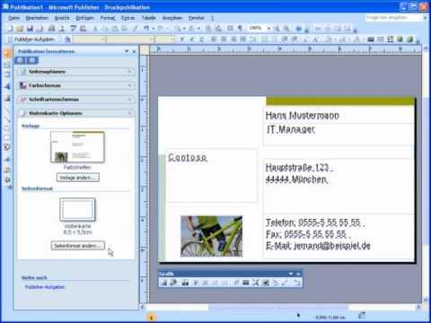Kurz Und Bündig: Erstellen Von Visitenkarten Mit Microsoft Office Publisher 2007