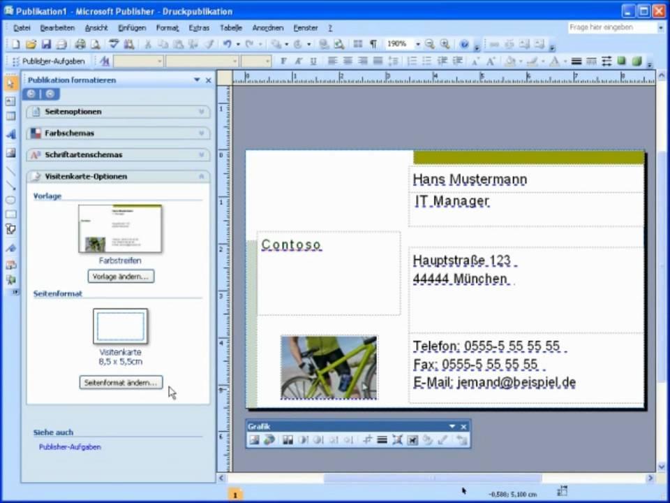 Kurz Und Bündig Erstellen Von Visitenkarten Mit Microsoft Office Publisher 2007