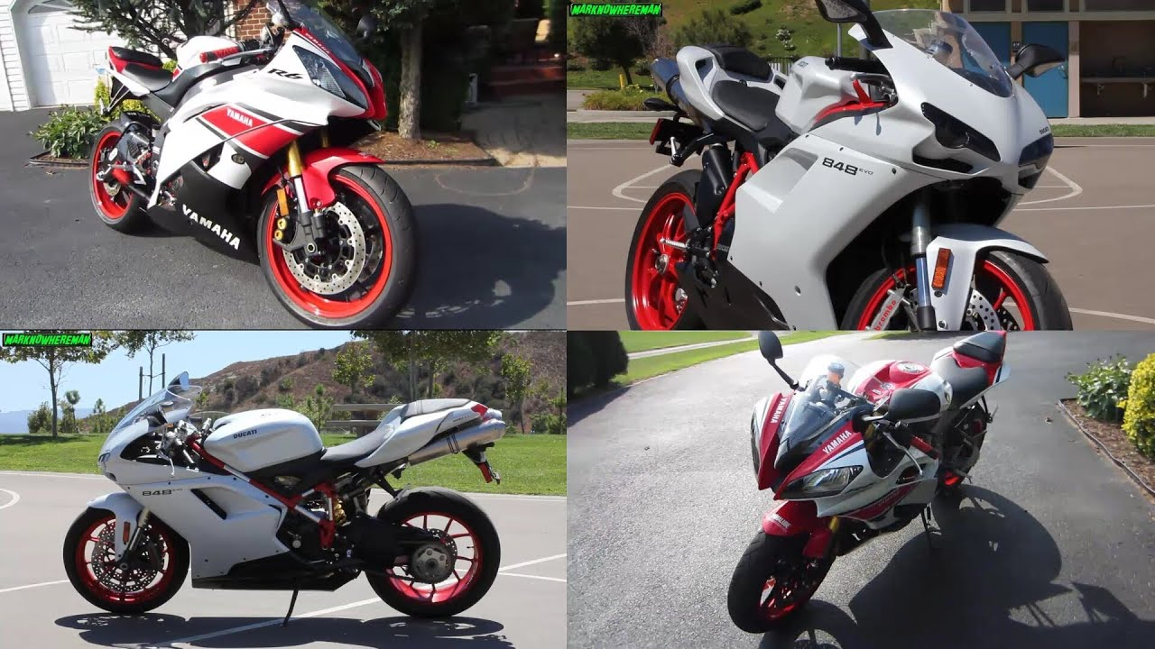 yamaha r6 or ducati 848 evo white and red sex machines. Black Bedroom Furniture Sets. Home Design Ideas