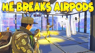 Rich Scammer Breaks His AirPods Over Guns! (Scammer Gets Scammed) Fortnite Save The World