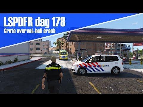GTA 5 lspdfr dag 178 - Grote overval + helikopter crash! [Touran 2011]