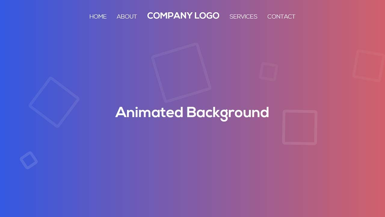 Animated Background with Pure CSS and HTML| No JavaScript no jQuery