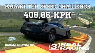 Real Racing 3 Pagani Top Speed Challenge 408,86 kph RR3