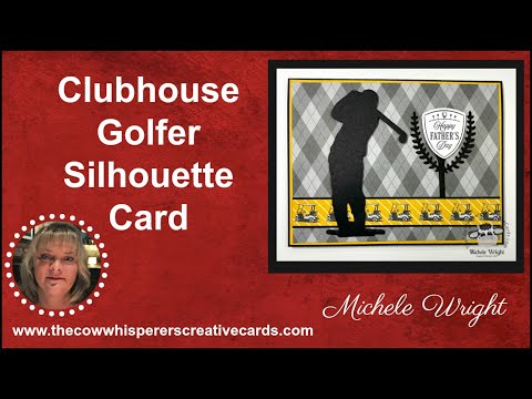 Clubhouse Golfer Silhouette Card