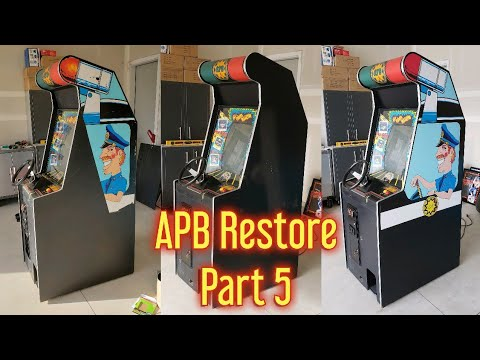 Atari APB All Points Bulletin Arcade Repair And Restore Part 5 - How To Install Arcade Side Art