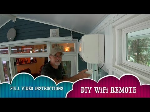 HOW TO INSTALL THE PAC-USWHS002-WF-1 WIRELESS REMOTE ON MITSUBISHI SPLIT AIRCON
