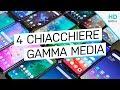 4 CHIACCHIERE con 16 smartphone MEDIO DI GAMMA