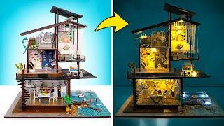 Membuat Miniatur Rumah Pantai yang Bersinar dalam Gelap