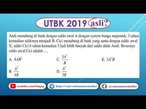 Contoh Soal Soal Asli Utbk 2019 Matematika Saintek Bunga Majemuk Icpns