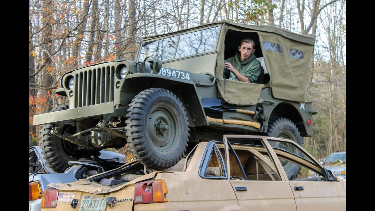 Stock Willys Jeep Car Crush