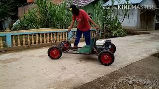 Luar Biasa !!! Mobil gokart dari limbah (barang bekas) #Anak desa muara jambi