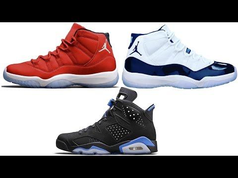 Air Jordan 11 GYM RED + MIDNIGHT NAVY Release Date, Jordan 6 Black University Blue and More