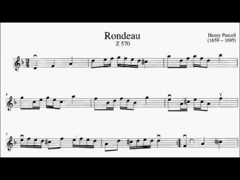 ABRSM Violin 2016-2019 Grade 4 A:6 A6 Purcell Rondeau from Abdelazer Z.570 Sheet Music