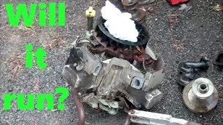 JUNKYARD Riding Lawnmower engine, BRIGGS and STRATTON INTEK TWIN Brought BACK TO LIFE!