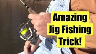 How to STOP your Crappie jig at the right depth every cast!