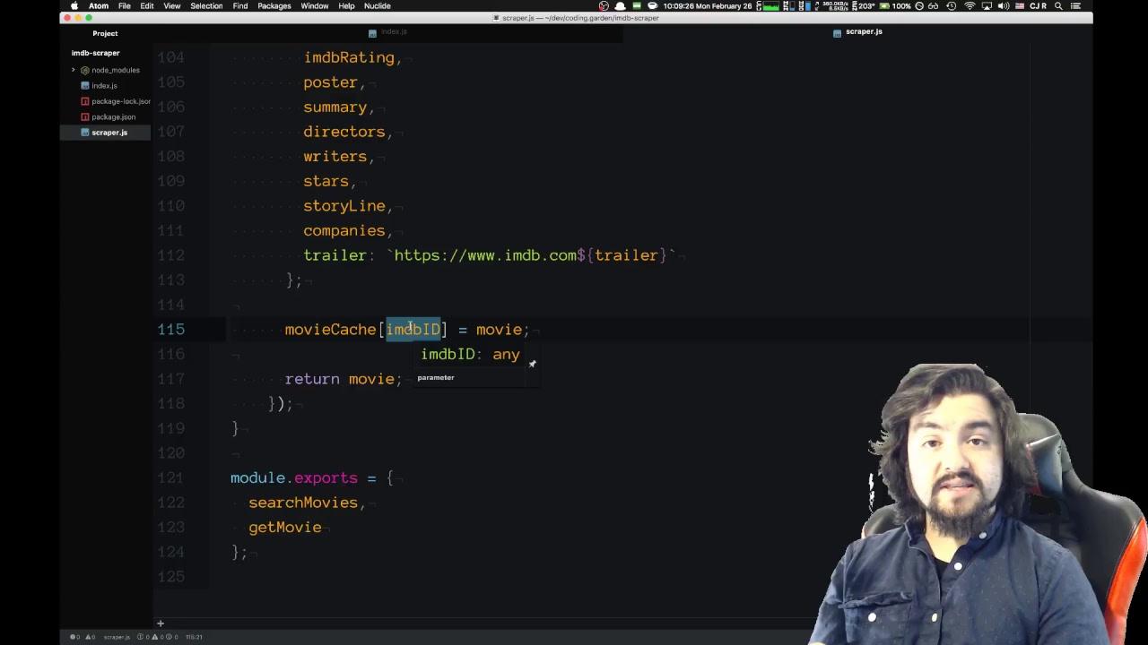 Build a Web Scraper with Node js and cheerio - IMDB Movie Search