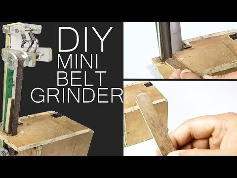 How To Make DIY Mini Belt Grinder Project Mechanical Project