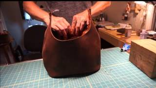 How I Make My Custom Top Grain Leather Bags