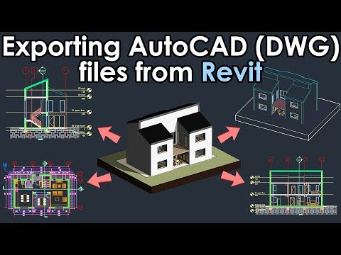 Exporting AutoCAD (DWG) Files From Revit Tutorial
