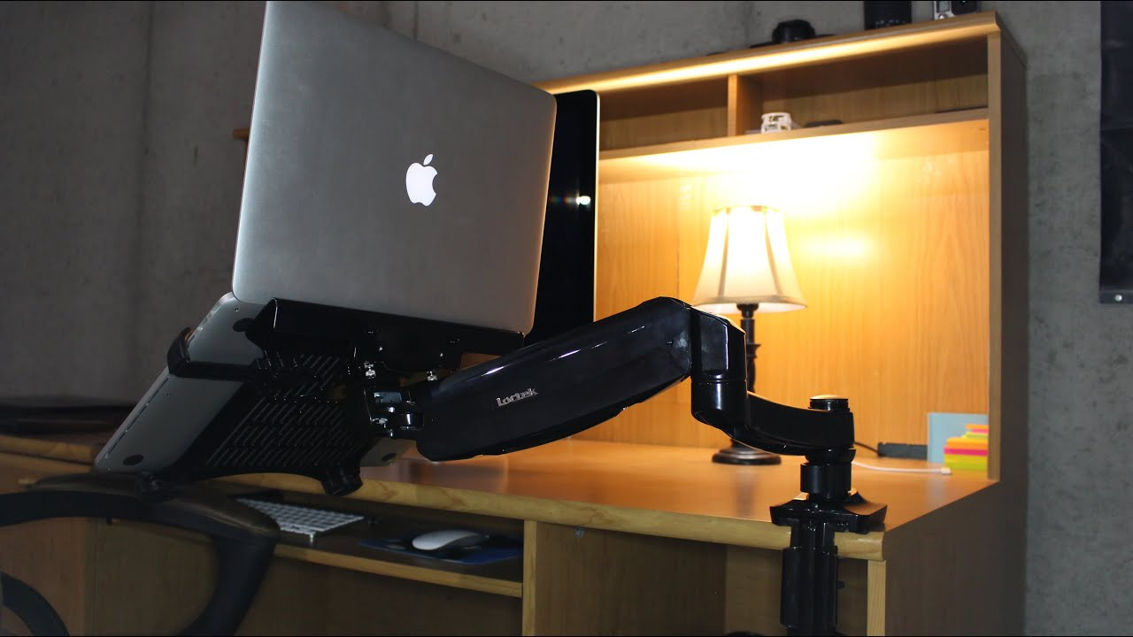 Loctek Monitor Amp Laptop Desk Mount Review Youtube