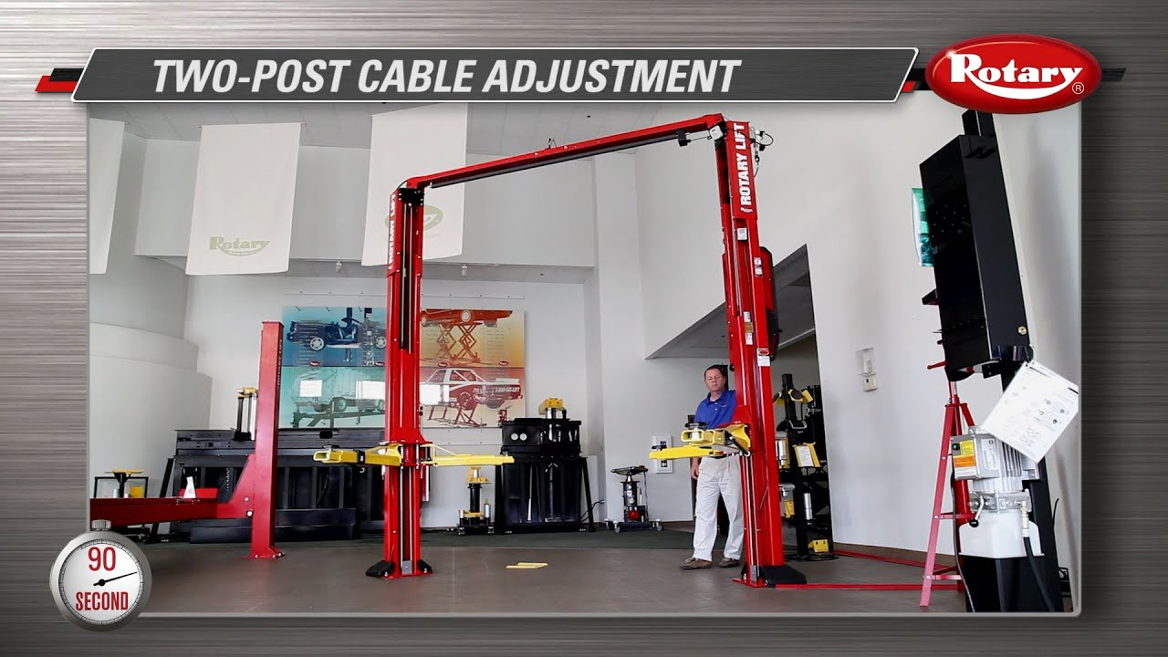 90 second know how  2 post cable adjustment