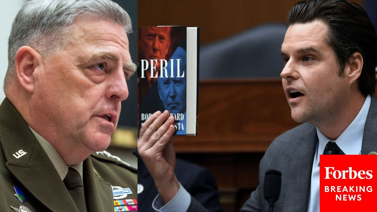 'You Really Blew That Call, Didn't You General?': Gaetz Confronts Milley Over Afghanistan Crisis