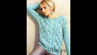 Пуловер Рельефным Узором Спицами - 2019 / Pullover Relief Pattern Knitting