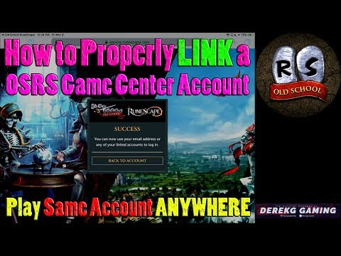 How To LINK Old School Runescape Mobile GAME CENTER Account - Easily Play On ANY DEVICE
