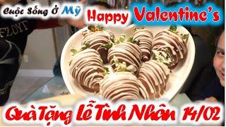 ❀//Vlog 82// Dâu Tây Chocolate Quà Tặng Ý Nghĩa Socala Nhân Ngày Valentine's Lễ Tình Nhân 14/02