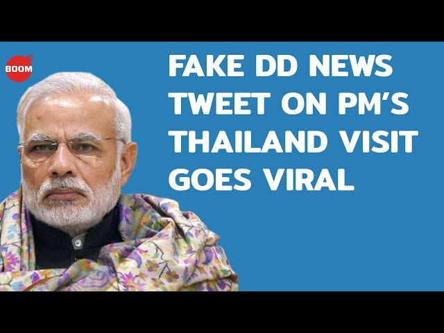 A 'Blooper' That Wasn't: Fake DD News Tweet On PM's Thailand Visit Goes Viral