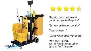 Global Industrial Janitorial Cart Comparison