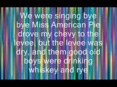 American Pie by Don McLean lyrics