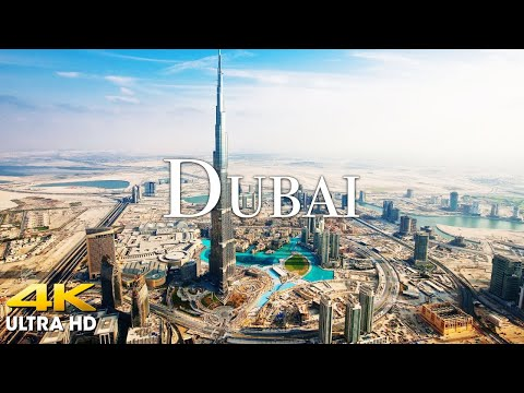 FLYING OVER DUBAI (4K UHD) - Amazing Beautiful Nature Scenery with Relaxing Music for Stress Relief
