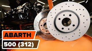Hvordan udskiftes bremseskiver foran til ABARTH 500 (312) [UNDERVISNINGSLEKTIONER AUTODOC]