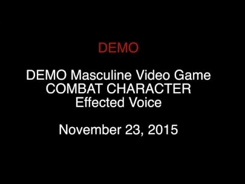 VIDEO GAME COMBAT HERO CHARACTER Inquisitor effected voice over sample John Sutton Johnny Stone