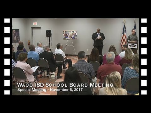 Waco ISD: Special Meeting Board of Trustees November 6 ...