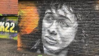 Граффити В.Цоя в Барнауле смотреть онлайн в хорошем качестве - VIDEOOO