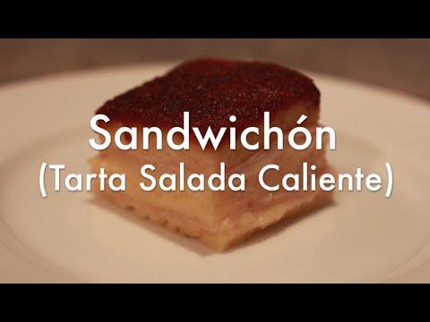 Tarta salada caliente Sandwichon - Aperitivos fáciles para fiestas