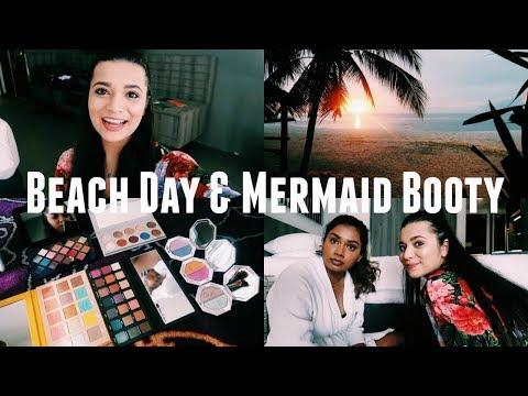 BEACH DAY & MERMAID BOOTY | VLOG thumbnail