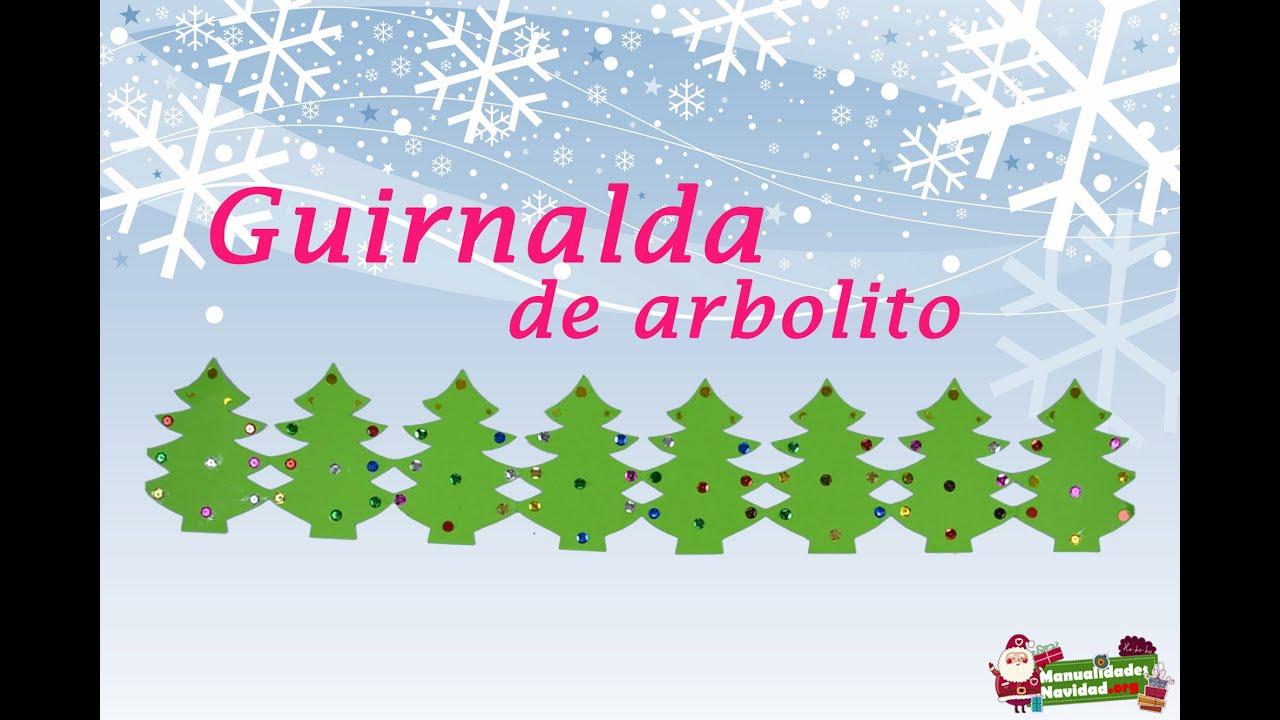 Guirnalda navide a en forma de arbolitos manualidades navidad youtube - Guirnaldas navidad manualidades ...