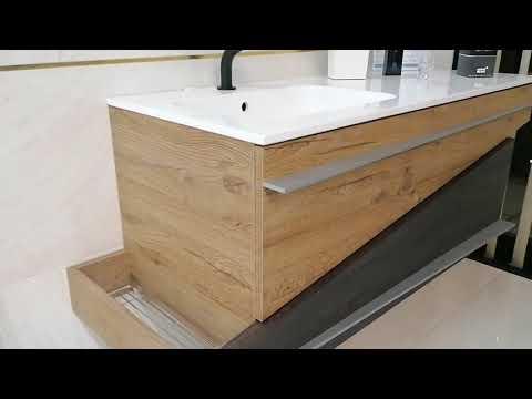 Mobile bagno sospeso 120 cm. effetto legno moderno MADE IN ITALY - TOP QUALITY