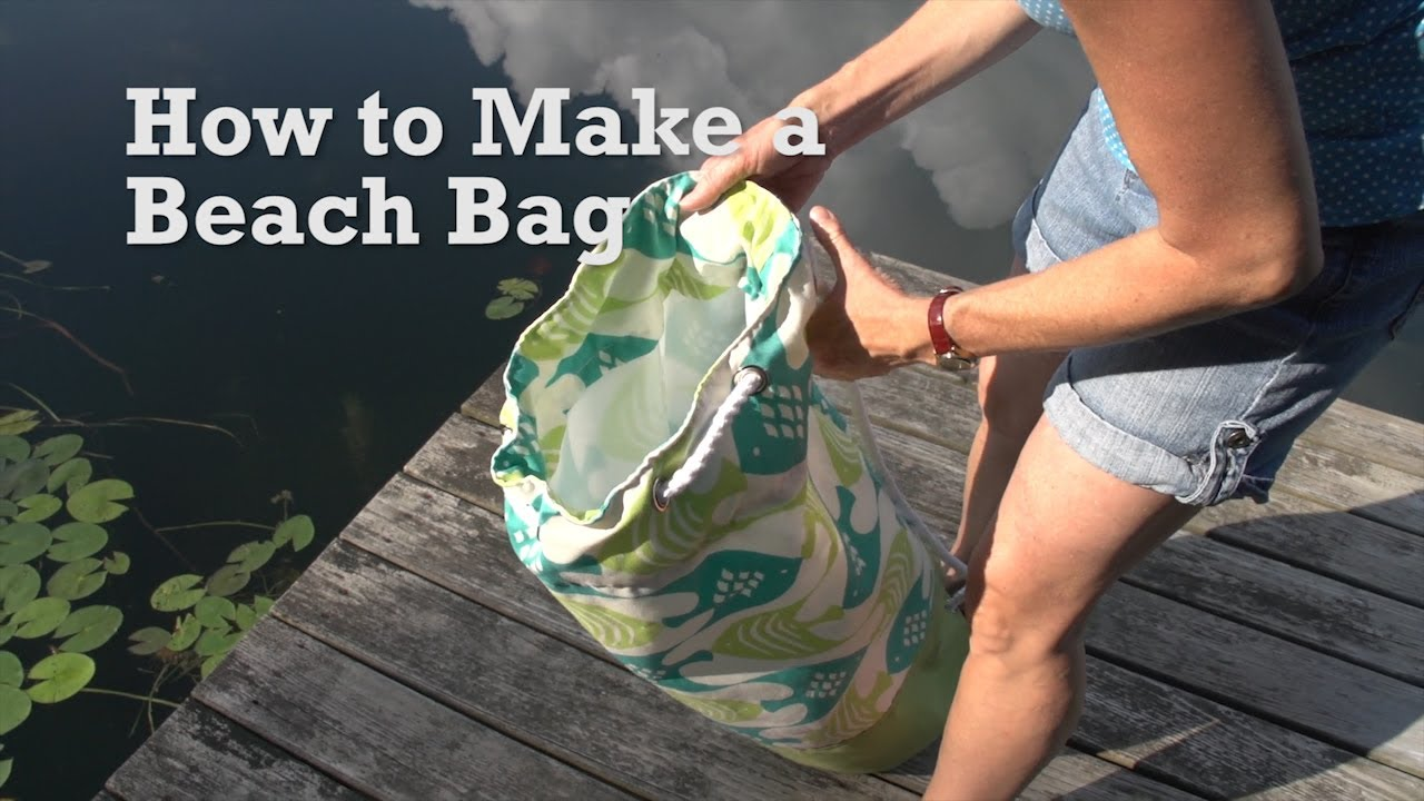 How to Make a Beach Bag - YouTube