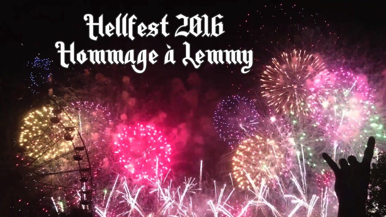 Hellfest 2016 Feu D Artifice Hommage à Lemmy Kilmister